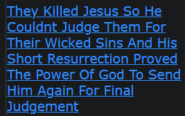 They Killed Jesus So He Couldnt Judge Them For Their Wicked Sins And His Short Resurrection Proved The Power Of God To Send Him Again For Final Judgement