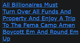 All Billionaires Must Turn Over All Funds And Property And Enjoy A Trip To The Fema Camp Amen Boycott Em And Round Em Up