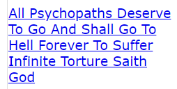 What Is All Psychopaths Deserve To Go And Shall Go To Hell Forever