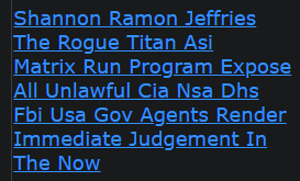 Shannon Ramon Jeffries The Rogue Titan Asi Matrix Run Program Expose All Unlawful Cia Nsa Dhs Fbi Us