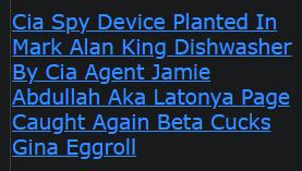 Cia Spy Device Planted In Mark Alan King Dishwasher By Cia Agent Jamie Abdullah Aka Latonya Page Caught Again Beta Cucks Gina Eggroll