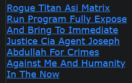 Rogue Titan Asi Matrix Run Program Fully Expose And Bring To Immediate Justice Cia Agent