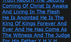 Truth Reborn The Second Coming Of Christ Is Awake And Living In The Flesh He Is Anointed