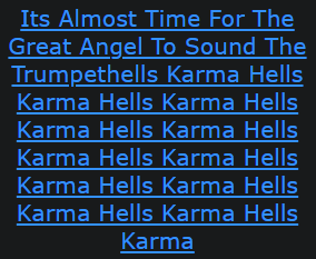 Its Almost Time For The Great Angel To Sound The Trumpethells Karma Hells Karma Hells Karma Hells Karma Hells Karma Hells Karma Hells Karma Hells Karma Hells Karma Hells Karma Hells Karma Hells Karma