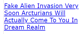 Fake Alien Invasion Very Soon Arcturians Will Actually Come To You In Dream Realm