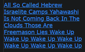 All So Called Hebrew Israelite Camps Yahawashi Is Not Coming Back In The Clouds Those Are Freemason Lies Wake Up Wake Up Wake Up Wake Up Wake Up Wake Up Wake Up