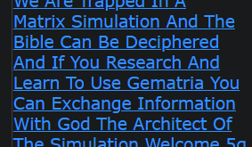 We Are Trapped In A Matrix Simulation And The Bible Can Be Deciphered And If You Research And Learn