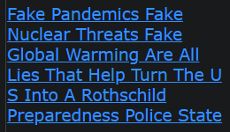 Fake Pandemics Fake Nuclear Threats Fake Global Warming Are All Lies That Help Turn The U S Into A Rothschild Preparedness Police State