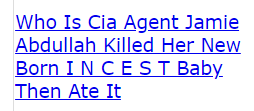 Who Is Cia Agent Jamie Abdullah Killed Her New Born I N C E S T Baby Then Ate It (code crack)