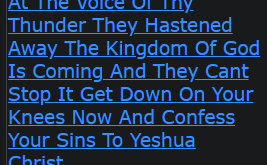 At The Voice Of Thy Thunder They Hastened Away The Kingdom Of God Is Coming And They Cant Stop It