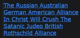 The Russian Australian German American Alliance In Christ Will Crush The Satanic Judeo British
