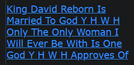 King David Reborn Is Married To God Y H W H Only The Only Woman I Will Ever Be With Is One God Y H W H Approves