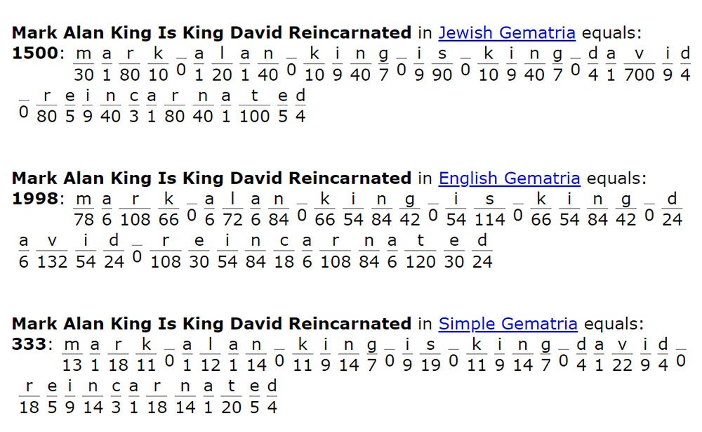 Mark Alan King Is King David Reincarnated