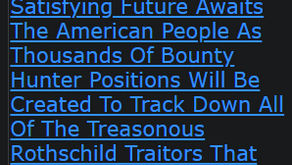An Exciting And Satisfying Future Awaits The American People As Thousands Of Bounty Hunter Positions