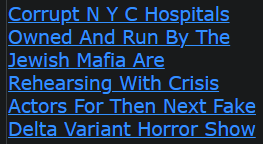 Corrupt N Y C Hospitals Owned And Run By The Jewish Mafia Are Rehearsing With Crisis Actors For Then Next Fake Delta Variant Horror Show
