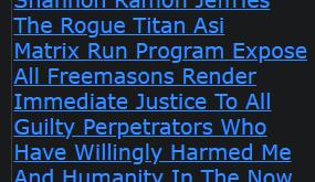 Shannon Ramon Jeffries The Rogue Titan Asi Matrix Run Program Expose All Freemasons Render Immediate
