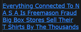 Everything Connected To N A S A Is Freemason Fraud Big Box Stores Sell Their T Shirts By The Thousands