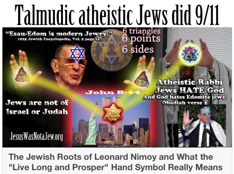 Talmudic Atheistic Fake Jews Did 911