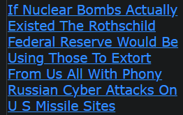 If Nuclear Bombs Actually Existed The Rothschild Federal Reserve Would Be Using Those To Extort From