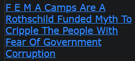 F E M A Camps Are A Rothschild Funded Myth To Cripple The People With Fear Of Government Corruption