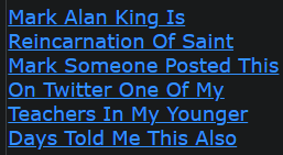 Mark Alan King Is Reincarnation Of Saint Mark Someone Posted This On Twitter One Of My Teachers In My Younger Days Told Me This Also