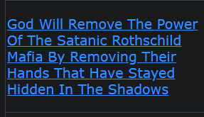 God Will Remove The Power Of The Satanic Rothschild Mafia By Removing Their Hands That Hide