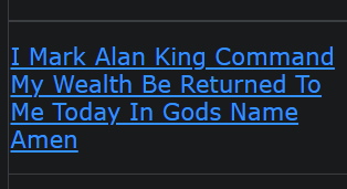 I Mark Alan King Command My Wealth Be Returned To Me Today In Gods Name Amen
