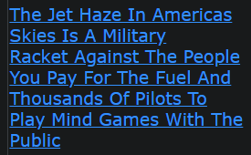 The Jet Haze In Americas Skies Is A Military Racket Against The People You Pay For The Fuel And Thousands Of Pilots To Play Mind Games With The Public