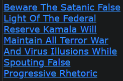 Beware The Satanic False Light Of The Federal Reserve Kamala Will Maintain All Terror War And Virus Illusions While Spouting False Progressive Rhetoric