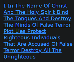 I In The Name Of Christ And The Holy Spirit Bind The Tongues And Destroy The Minds Of False Terror Plot Lies Protect Righteous Individuals That Are Accused Of False Terror Destroy All The Unrighteous