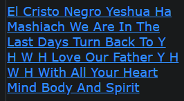 El Cristo Negro Yeshua Ha Mashiach We Are In The Last Days Turn Back To Y H W H Love Our Father Y H W H With All Your Heart Mind Body And Spirit