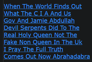 When The World Finds Out What The C I A And Us Gov And Jamie Abdullah Devil Serpents Did To The Real Holy Queen Not The Fake Non Queen In The Uk I Pray The Full Truth Comes Out Now Abrahadabra