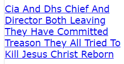 Cia And Dhs Chief And Director Both Leaving They Have Committed Treason They All Tried To Kill Jesus