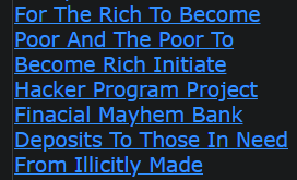 I Pray The Time Has Come For The Rich To Become Poor And The Poor To Become Rich Initiate Hacker