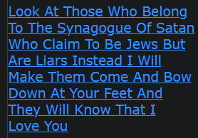 Look At Those Who Belong To The Synagogue Of Satan Who Claim To Be Jews But Are Liars Instead I Will