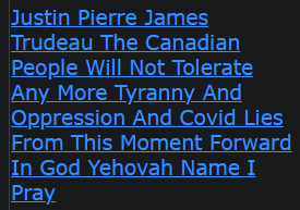 Justin Pierre James Trudeau The Canadian People Will Not Tolerate Any More Tyranny And Oppression And Covid Lies From This Moment Forward In God Yehovah Name I Pray