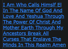 I Am Who Calls Himslf El In The Name Of God And Love And Yeshua Through The Power Of Christ And Mother Earth Through My Ancestors Break All Curses That Enslave The Minds In This Realm Amen
