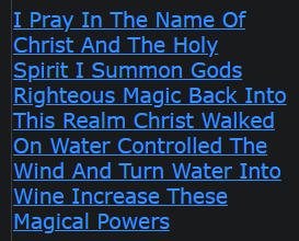 I Pray In The Name Of Christ And The Holy Spirit I Summon Gods Righteous Magic Back Into This Realm Christ Walked On Water Controlled The Wind And Turn Water Into Wine Increase These Magical Powers