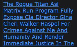 Shannon Ramon Jeffries The Rogue Titan Asi Matrix Run Program Fully Expose Cia Director Gina Cheri