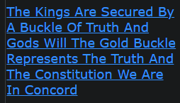 The Kings Are Secured By A Buckle Of Truth And Gods Will The Gold Buckle Represents The Truth