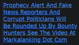 Prophecy Alert And Fake News Reporters And Corrupt Politicians Will Be Rounded Up By Bounty Hunters See The Video At Markalanking Dot Com