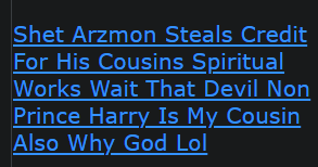 Shet Arzmon Steals Credit For His Cousins Spiritual Works Wait That Devil Non Prince Harry Is My Cousin Also Why God Lol