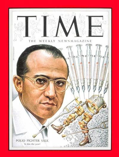 Jonas Salk N Y C Jewish Virologist Did Not Give His Own Children His Poison Vaccine That Photo Was Staged For The Press Only Water In The Hypodermic