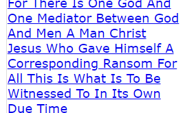 For There Is One God And One Mediator Between God And Men A Man Christ Jesus