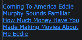 Coming To America Eddie Murphy Sounds Familiar How Much Money Have You Made Making Movies About Me Eddie