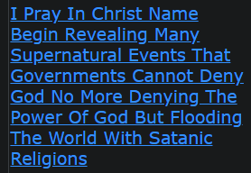 I Pray In Christ Name Begin Revealing Many Supernatural Events That Governments Cannot Deny God No More Denying The Power Of God But Flooding The World With Satanic Religions