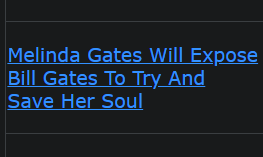 Melinda Gates Will Expose Bill Gates To Try And Save Her Soul