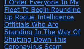 I Order Everyone In My Fleet To Begin Rounding Up Rogue Intelligence Officials