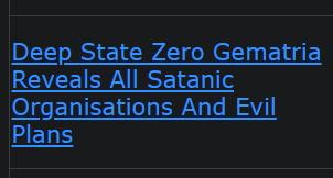 Deep State Zero Gematria Reveals All Satanic Organizations And Evil Plans
