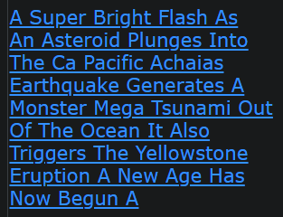 A Super Bright Flash As An Asteroid Plunges Into The Ca Pacific Achaias Earthquake Generates A Monster Mega Tsunami Out Of The Ocean It Also Triggers The Yellowstone Eruption A New Age Has Now Begun A